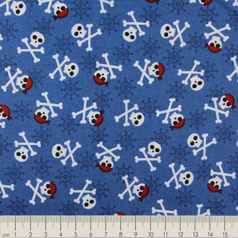 cotton fabric Andie Hanna fabulous foxes skulls black Robert Kaufmann fabrics