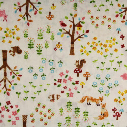 cosmo fabrics cotton bears music notes multicolor