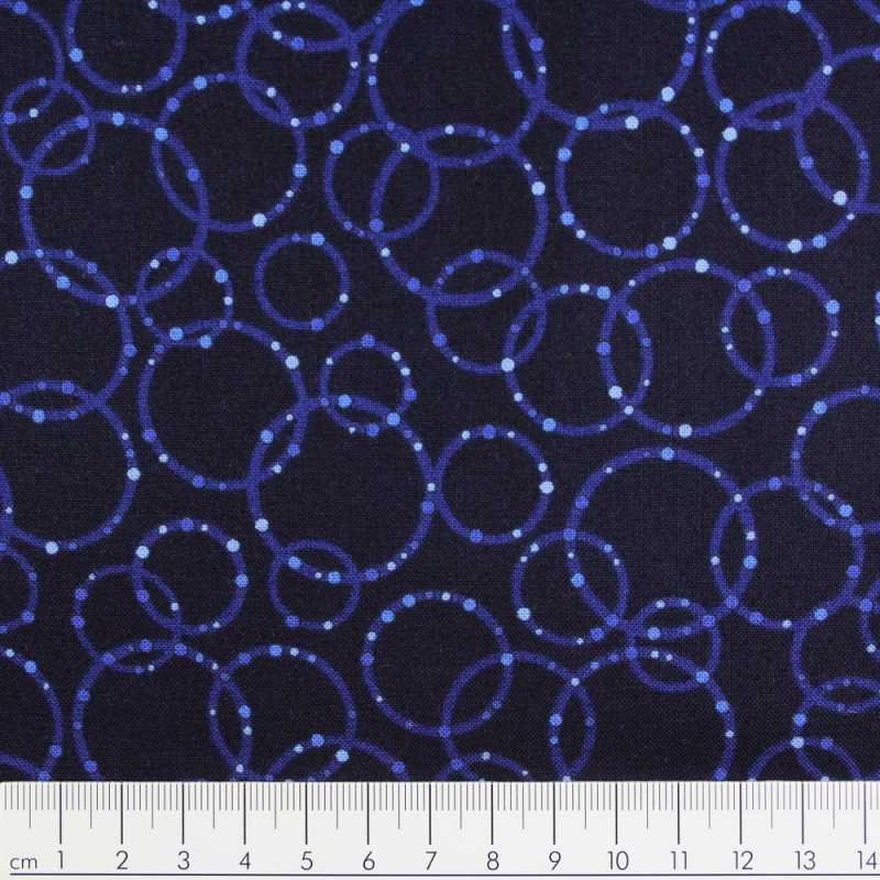 Cotton fabric Patrick Lose Dazzle blue Robert Kaufmann fabrics