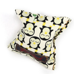 Lavender pillow penguin gold