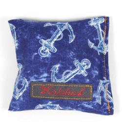 Lavender pillow penguin blue