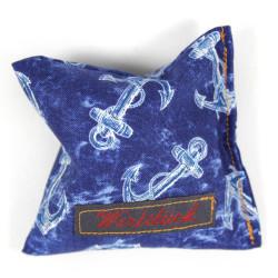 Lavendelkissen Anker blau