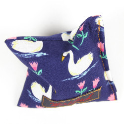 Lavender pillow penguin blue