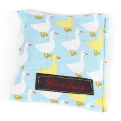 Lavender pillow swan blue
