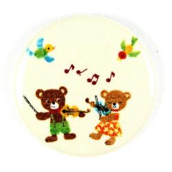 Button Bären mit Geige ø 56mm