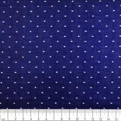 Baumwollstoff blau weiße Punkte Modestoffe Robert Kaufmann stoffe