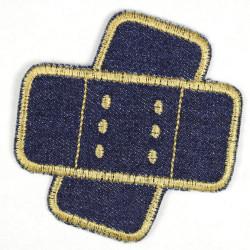 Flickli Pflaster Jeans blau gold schräg