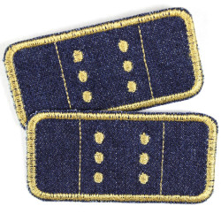 Flickli - the patch! jeans plaster patches black obliquely