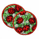 iron on patch round ladybugs in gras strong patch usable knee patches and pants patches for children