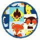 Flickli rund Löwe Tiger Bär