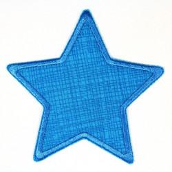 Flickli Stern Gitter mit Schraffur aqua aqua umfaßt