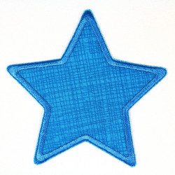 Flickli - the patch! star mint grid mint trim