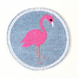 Accessoires Flamingo Jeans hellblau 7cm Flicken zum aufbügeln
