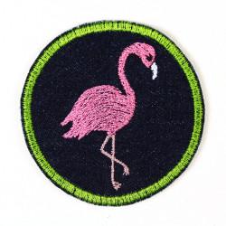 Flickli rund Flamingo Jeans blau
