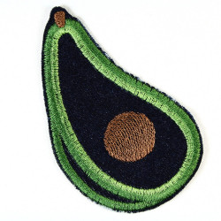 iron-on patches avocado embroidered denim jeans applique and accessory