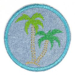 Flicken zum aufbügeln mit gestickte Palmen Bügelbild und feste Knieflicken für Kinder und Erwachsene Bügelflicken Jeans
