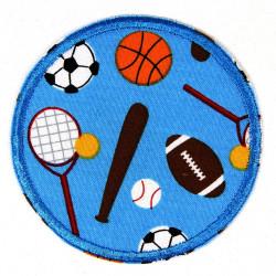 Flicken zum aufbügeln mit Bällen Hosenflicken und Knieflicken für Kinder besonders Jungen 2 - 5 Jahre ideal Bügelflicken ø 8cm