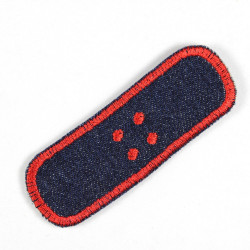 Flickli - the patch! pavement single red