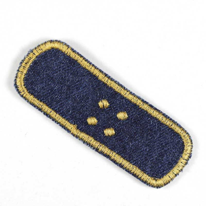 Patch for ironing on large jeans patches blue plaster iron-on patches embroidered gold, for adults