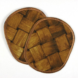 Flickli - the patch! Set oval retro wood braid