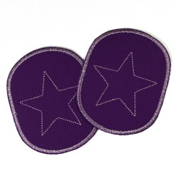 Flickli - the patch! set retro with star on grey canvas