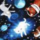 Patchworkstoff Katzen im Weltraum Stoff timeless treasures zum quilten Baumwollstoffe Tiere Weltall Planeten und Sterne