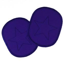 Flicken zum aufbügeln mit Stern Canvas blau 10x8cm Knieflicken und Hosenflicken für Jungen gut bis 5 Jahre oder 116cm Aufbügler