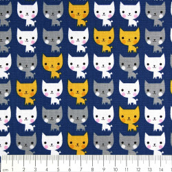 cotton fabric cats colorful patchwork multicolor Robert Kaufmann fabrics
