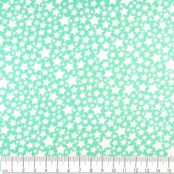 Stoffe mit Sternen weiß Baumwollstoff mint hellgrün patchworkstoff zum quilten klein gemustert zum nähen Michael Miller fabrics