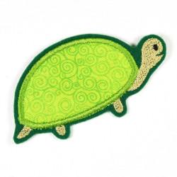 Bügelbild Schildkröte gestickte Applikation zum aufbügeln Accessoire