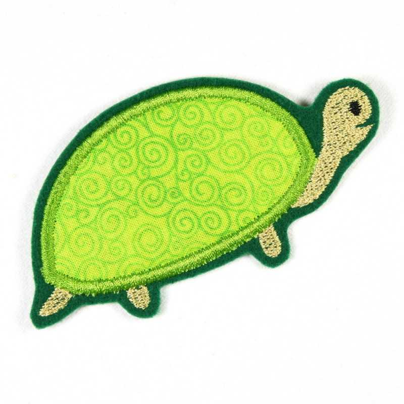 iron-on patches turtle embroidered applique accessory