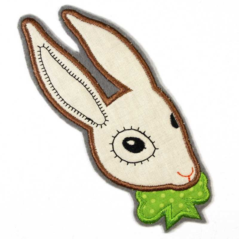 Iron-on patch rabbit as an applique to iron on or patches and accessories