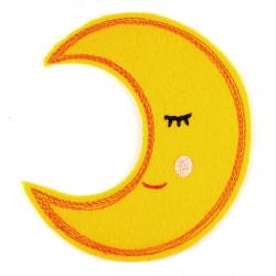 Aufbügler Mond Bügelbild Mondsichel Aufnäher zum aufbügeln gestickt