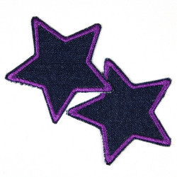 Flickli - the patch! blue jeans small stars 2 items set blue trim