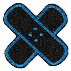 Jeans Flicken Pflaster zum aufbügeln Jeans schwarz petrol Bügelflicken und Aufbügler auch Accessoire