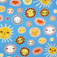 Baumwollstoffe Sonne Little Senoritas Cabana Patchworkstoffe Robert Kaufman Stoffe Sonnen auf blau Accessoires für Kinder
