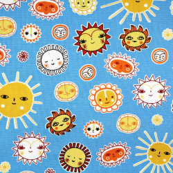 cotton fabric suns patchwork little senoritas cabana Robert Kaufmann fabrics