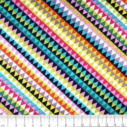 Baumwollstoffe geometrische Stoffe Michael Miller Jewe D patchworkstoff bunte Dreiecke zum quilten