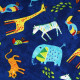 Baumwollstoffe Stoffe timeless Zirkus Tiere Elefanten Zebra Giraffen Tiger Afrika