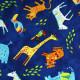 Baumwollstoffe wilde Tiere Elefanten Zebra Giraffen Tiger für Kinder Accessoires