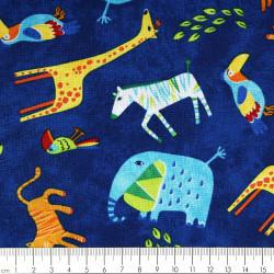 Baumwollstoff Stoffe Tiere Elefanten Zebra Giraffen Tiger timeless treasures fabrics