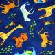 Baumwollstoff Stoffe Zoo Tiere Elefanten Zebra Giraffen Tiger Tasche oder Kissen nähen