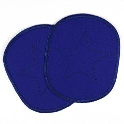 Flicken zum aufbügeln XL mit Stern auf blau Canvas Aufbügler Set groß für Jungen