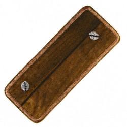 patches zum aufbügeln Holz dunkel Aufbügler mittlere Größe Bügelflicken