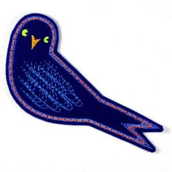 Aufbügler Vogel Bügelbild Schwalbe Hetty Aufnäher zum aufbügeln gestickt