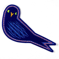 bird iron-on patches swallow Hetty embroidered applique