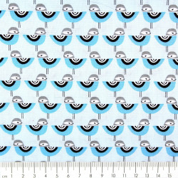 Sewing cotton fabrics Suzy Ultmann patchwork fabrics by the meter Robert Kaufman fabrics birds blue