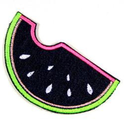 Jeans Aufbügler Melone patches zum aufbügeln Jeans blau gesticktes Bügelbild