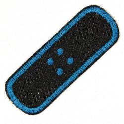 Jeans Bügelflicken Flicken Pflaster einzel schwarz petrol Aufbügler und Bügelbild gestickt