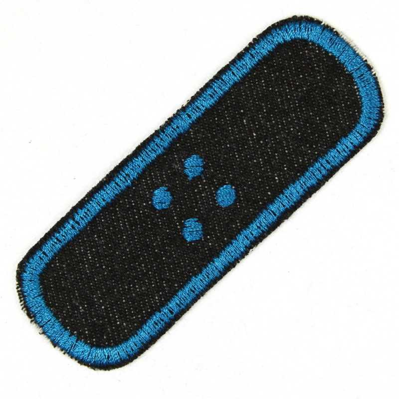 iron on patches plaster single black petrol blue embroidered applique denim strong and solid fabric patcches small